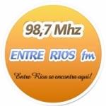 Logo da emissora Rádio Entre Rios  98.7 FM
