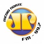 Logo da emissora Rádio Jovempan 99.7 FM
