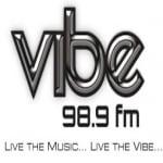 Logo da emissora Radio Vibe 98.9 FM