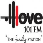 Logo da emissora Radio Love 101.1 FM