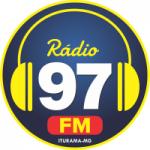 Logo da emissora Rádio 97 FM de Iturama
