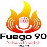 Logo da emissora Radio Fuego 90.5 FM