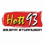 Logo da emissora Radio Hott 93.5 FM