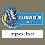 Logo da emissora Radio Revolución 91.9 FM