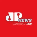 Logo da emissora Rádio Jovem Pan News Campinas 1230 AM 99.7 FM