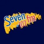 Logo da emissora Seven 107 FM