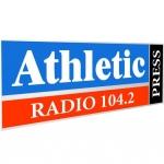 Logo da emissora Radio Athletic 104.2 FM