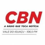 Logo da emissora Rádio CBN Vale do Iguaçu 106.5 FM