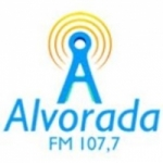Logo da emissora Rádio Alvorada 107.7 FM