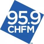 Logo da emissora Radio CHFM Kiss 95.9 FM