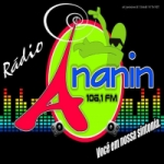 Logo da emissora Rádio Ananin 106.1 FM
