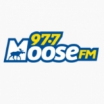 Logo da emissora Radio CHMS Moose 97.7 FM