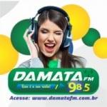 Logo da emissora Rádio Damata 98.5 FM
