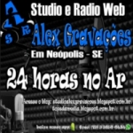 Logo da emissora Rádio Web Alex Gravações