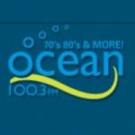 Logo da emissora Radio CHTN Ocean 100.3 FM