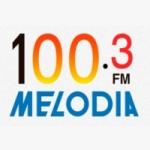 Logo da emissora Rádio Melodia 100.3 FM