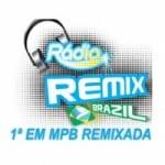 Logo da emissora Rádio Remix Brazil