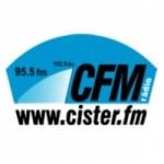 Logo da emissora Rádio Cister 95.5 FM