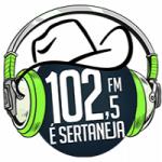 Logo da emissora Rádio 102 FM Sertaneja