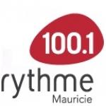 Logo da emissora Radio CJEB Rythme 100.1 FM