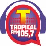 Logo da emissora Rádio Tropical 105.7 FM