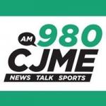 Logo da emissora Radio CJME News Talk 980 AM