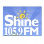 Logo da emissora Radio CJRY Shine 105.9 FM