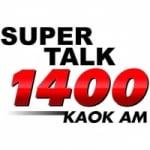 Logo da emissora Radio KAOK Super Talk 1400 AM