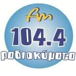 Logo da emissora Radio kymata 104.4 FM