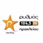 Logo da emissora Radio Rythmos 104.5 FM