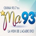Logo da emissora Radio CKMA 93.7 FM