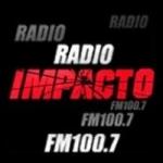 Logo da emissora Radio Impacto 100.7 FM