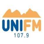 Logo da emissora Rádio Uni FM 107.9