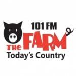 Logo da emissora Radio CKXA The Farm 101.1 FM