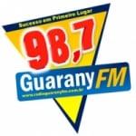 Logo da emissora Radio Guarany 98.7 FM