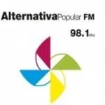 Logo da emissora Rádio Alternativa Popular 98.1 FM