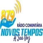 Logo da emissora Rádio Novos Tempos 87.9 FM