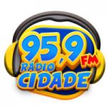 Logo da emissora Rádio Cidade 95.9 FM
