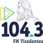 Logo da emissora Rádio Tiradentes 104.3 FM