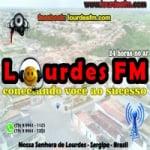 Logo da emissora Rádio Lourdes 104.9 FM
