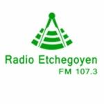 Logo da emissora Radio Etchegoyen 107.3 FM