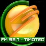 Logo da emissora Rádio Cidade 98.7 FM