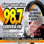 Logo da emissora Rádio Genoveva 98.7 FM