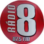 Logo da emissora Rádio 8 FM 87.5