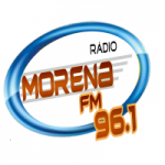 Logo da emissora Rádio Morena FM 96