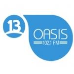 Logo da emissora Radio Oasis 102.1 FM