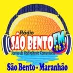 Logo da emissora Rádio São Bento 106.3 FM