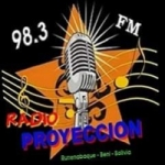 Logo da emissora Radio Proyección 100.7 FM