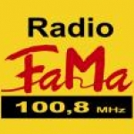Logo da emissora Fama 100.8 FM