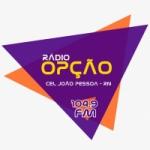 Logo da emissora Rádio Opção 104.9 FM